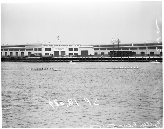 Shellboat races with college crews, 1957