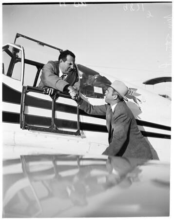 Record flight attempt from Burbank to New York, 1953