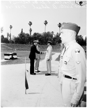 Caltech (Air Force Reserve Officers' Training Corps unit) awards presented, 1958