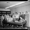 Bingo game defendants in Bellflower trial, 1954