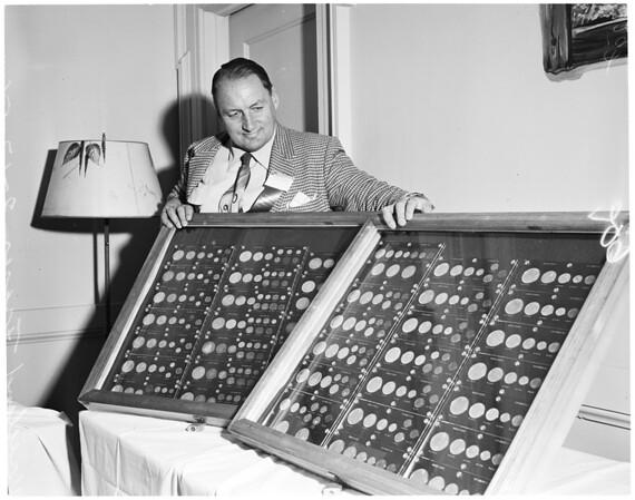 Coin exhibit, 1956