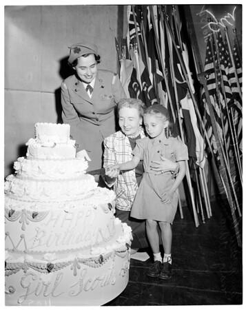 Girl Scout birthday party (Shrine Auditorium), 1954