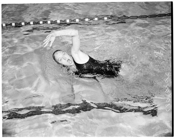 Women's swim meet, 1957