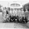 MGM executives at Pasadena Santa Fe Station, 1953