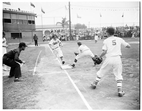 Visalia versus Cedar City, 1955