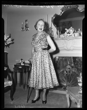 Copy negatives of Kathlyn Williams, 1957