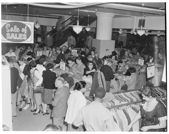 May Company Basement Sale, 1954