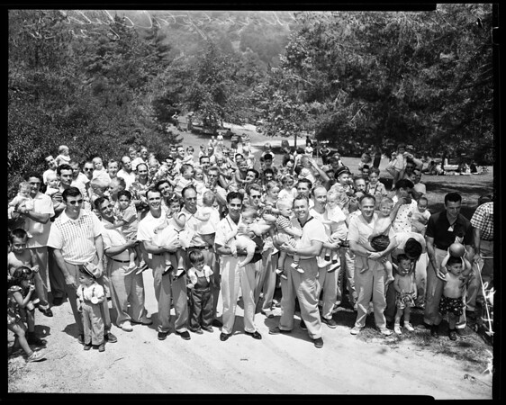 Holy Family Adoption Service picnic, 1954