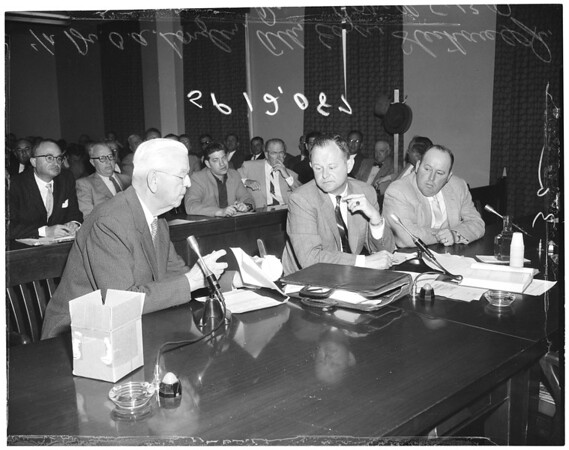 Racing board hearing on Cornell, 1957