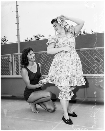 Bathing suit fashions (Santa Monica Spring Splash), 1958