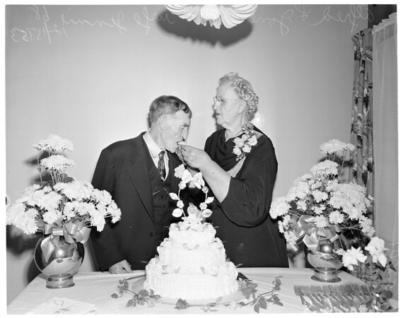 50th wedding anniversary, 1953