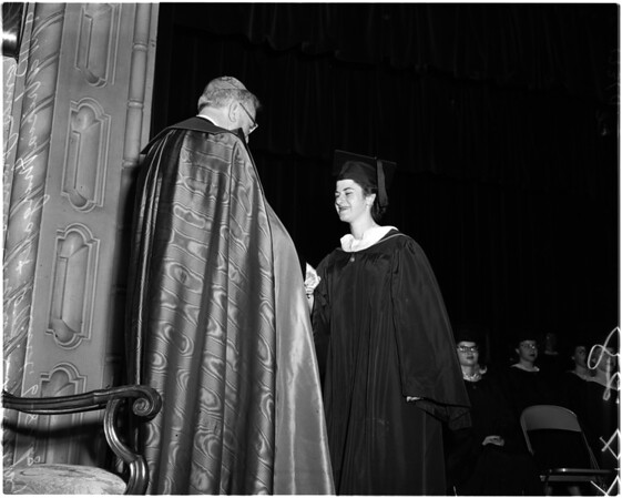 Immaculate Heart College commencement, 1958