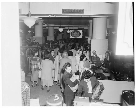 May Company Basement Sale, 1954