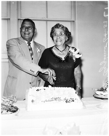 50th wedding anniversary, 1958