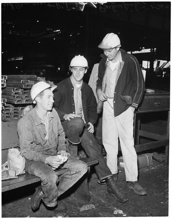 Steel feature taken at Columbia Geneva Steel Plant in Torrance, 1960