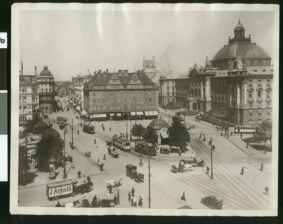 Great Public Square in Munich, Germany, 1923