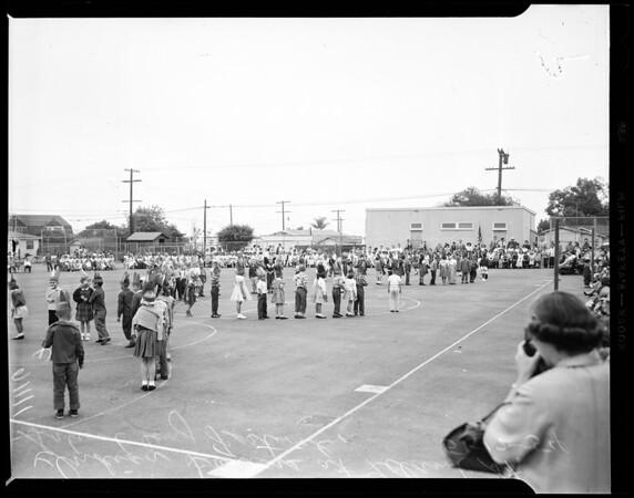 May Day (Leland Street School in San Pedro), 1954