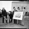 Medical association groundbreaking, 1954