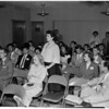 Teen-age traffic safety meeting, 1954