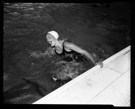 Examiner Swim Meet entries, Los Angeles Athletic Club, 1955