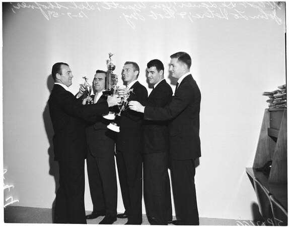 Los Angeles Rams football awards at Beverly Hilton, 1959