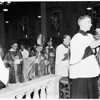 Palm Sunday Services at St. Vibianas Cathedral, 1956