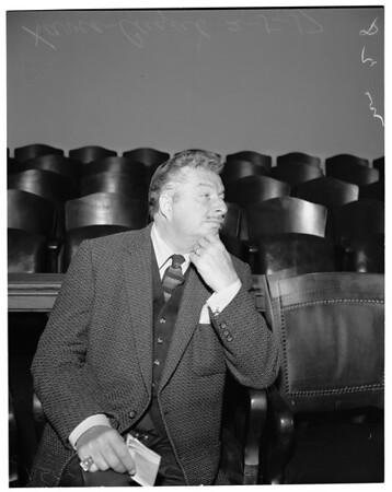 Back alimony suit, 1957