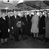 10 NATO delegates arrive in L.A. airport for 3 days visit, 1958