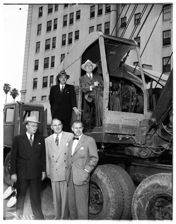 Remington Rand ground breaking -- Wilshire and Coronado, 1951