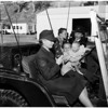 Women's Marine Reserve Platoon holds open house at Chavez Ravine Training Center, 1958