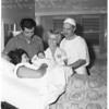 New Year baby born at Inglewood Bassinnette Obstetric Hospital, 1958