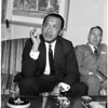Indonesian Sultan at Sheraton town house, 1958