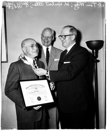 Scouts award, 1958