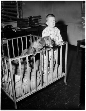 Lost boy at Norwalk Sheriff Station, 1958