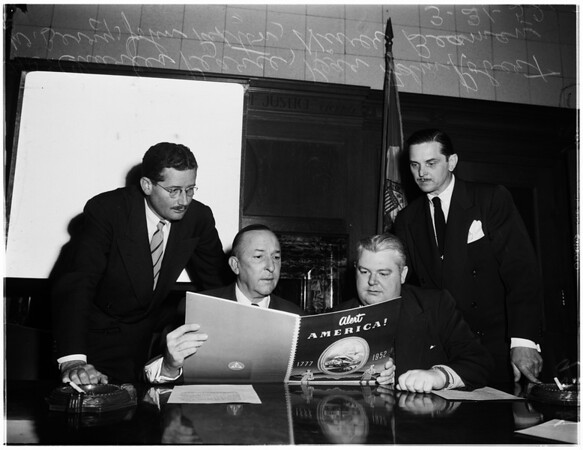 Civil defense meeting, 1952