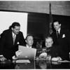 Civil defense meeting, 1952