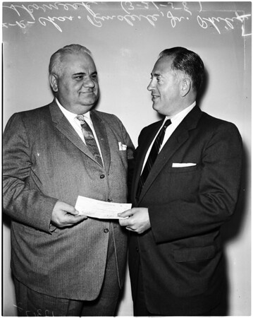 Psychiatric at Mount Sinai (check given), 1958