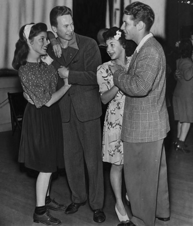 "Two couples enjoy dancing at the ""Teen Session"", 1945"