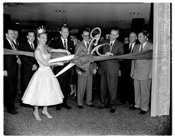 Business show opening, 1958