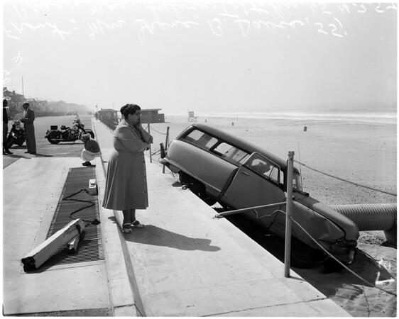 Manhattan Beach auto accident, 1957