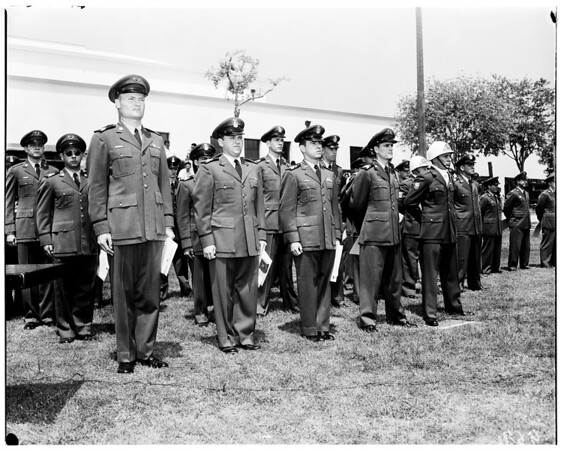 R.O.T.C. Cadets, Loyola receiving awards, 1952