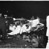 2 dead in traffic accident on Pasadena Freeway (inbound Pasadena Freeway) over San Fernando Road, 1958