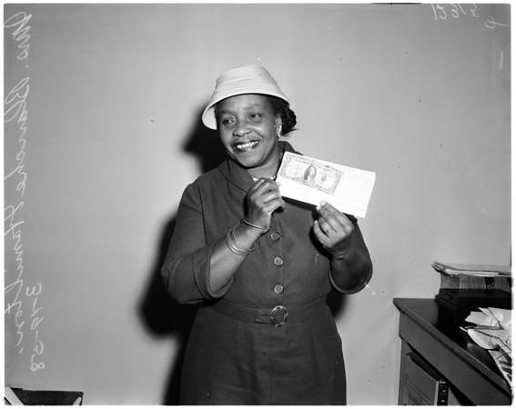 Bonus buck, 1958.