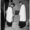 Church cornerstone laying (Angelica), 1951