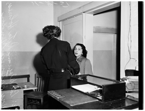 Endangering her two children, 1951