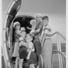 The H.T. Fisk Family flies to San Antonio, 1951