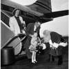 Christmas ...Santa Greets Travelers at International Airport, 1951