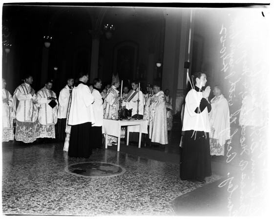 Saint Vibiana's Blessing of the oils, 1952