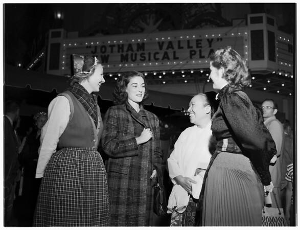 """Jotham Valley"" premiere (Carthay Circle), 1951"