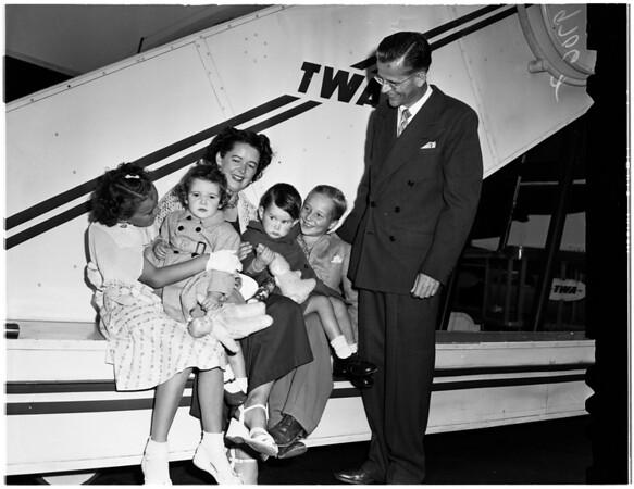 Los Angeles couple adopt fourth European orphan, 1952
